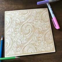 Flowering Swirls wood coloring panel