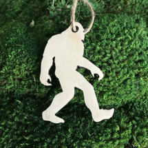 Bigfoot Shape wood holiday ornament