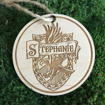 Harry Potter House Crest personalized wood holiday ornament