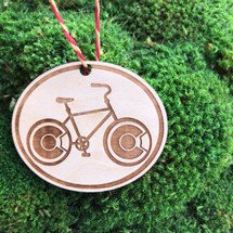 Colorado Bicycle wood ornament, Christmas, Christmas ornament