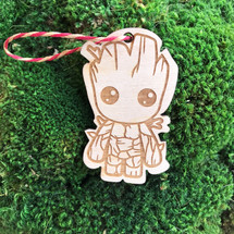Groot wood holiday ornament