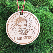 I am Groot wood holiday ornament