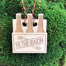 Tis the Season 6 pack wood holiday ornament