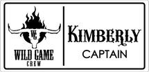 Custom listing for Kimberly - 5 name tags for Wild Game Crew Kimberley, Steve, Steve, Manuel & Lisa