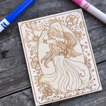 Gypsy Girl wood coloring panel