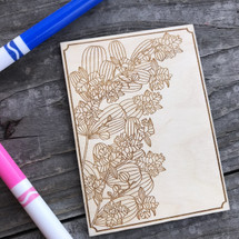 Orchid wood coloring panel