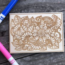 Floral Mashup wood coloring panel