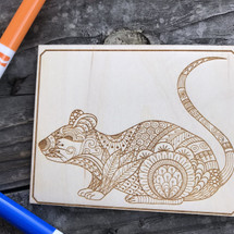 Rat wood coloring panel