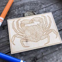 Crab wood coloring panel