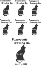 Custom listing for Stephanie - 6 pints and 1 growler with Fuzzy  Pants brewing art