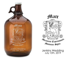 Custom listing for Tom - 9 128oz growlers with custom crest art