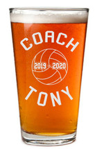 Volleyball Coach Personalized Pint Glass | Coach Gift