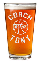 Basketball Coach Personalized Pint Glass | Coach Gift