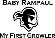 Custom listing for Eric - 1 32oz flip top growler with baby rampaul art