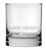 Custom listing for Tristan - 2 rocks glasses with TIMBERS PRESERVE engraved lower area
