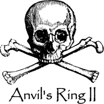 Custom listing for Mary - 2 small 8oz rocks glasses with Anvil's Ring II