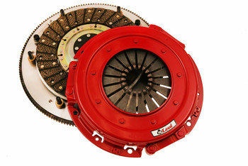 McLeod RXT Street Twin clutch kits are ideal for the extreme horsepower enthusiast who wants performance and economy. Capable of handling up to 1,000 HP, the RXT Street Twin clutches are for those who've kicked it up another notch—but still require streetability. The ceramic facing on the clutch discs provides slightly aggressive engagement with a soft pedal effort, making these clutches suitable for most street performance enthusiasts.  * Alignment tool * Lighter-than-stock pedal feel * Will bolt to factory flywheel * CNC-machined and anodized flywheel adapter ring * Smooth engagement with excellent release qualities * Ceramic facings on disc increase holding power over similar organic linings * Low rotating mass for quick revs * Blanchard ground floater with multiple straps to reduce noise for streetability