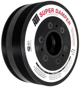 Harmonic Balancer, Super Damper, Internal Balance, Aluminum, Black, Chevy, 7.0L, Each