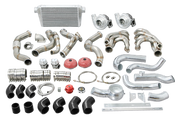 "If symmetry is what you are after in your hot rod and classic build, we understand exactly what you mean!  Single Turbo systems are great for getting the power down, especially the one that we have available exclusively for the 67-91 Chevy/GMC Truck!  This twin turbo kit includes the following:  1-7/8"" 304 Stainless twin turbo headers with V-Band Clamps T4 Turbo Elbows with Wastegate Provisions 44mm V-Band Wastegates 3"" Downpipes Oil Line Kit & Fittings Air Filters 76mm .96 A/R Q-Trim Ball Bearing Turbos - perfect for 6.0L - 6.7L LS Motors 