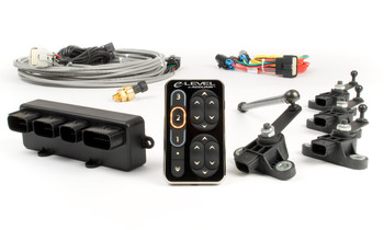 """This kit monitors and maintains all 4 corners of the vehicle independently, compensating for changing loads all the while. There are 3 pre programmable ride heights and a 4th """"all the way down"""" height. This kit works equally well on lifted, lowered and heavily loaded vehicles equipped with adjustable air suspension. The control pad gives you endless manual """"on the fly"""" controls and active diagnostic feed back in addition to the presets. This kit is the best of both worlds, old school user controls and the cutting edge automated controls!  Click for more details and video!"""