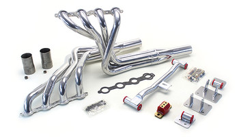 This swap kit is for 1979-1993 Mustangs. It was designed around the Cadillac CTS-V oil pan and stock K-member. Unlike most LS swap parts on the market this kit replaces the frame brackets in addition to the mounts so you'll have clean mounting of your engine and not a mix of parts that are weak and don't work together properly.  Click for more details!