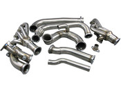 """LS Swapped Silvia need more power? How about adding a turbo to it? Here are the manifolds to get you started! 1. Keeps Radiator at Stock Location. 2. Use A Patented Twin 2.5"""" to T4 Cast Merge Collector, Provides the Best Flow for Turbo Spooling. 3. Support Big T4 Turbo 4. Support Dual 44MM Vband Wastegate"""