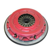 These RAM Force 10.5 twin-plate clutch kits have a strap-driven assembly that quietly transmits in excess of 950 ft.-lbs of torque. They are available with your choice of a 300 Series steel-backed friction disc or a 900 Series sintered iron disc. The kits use a marcel spring--a thin, wavy device that helps to eliminate the go-or-no-go tendency that similar dual disc clutches have. RAM Force 10.5 twin-plate clutch kits include a billet aluminum, SFI-certified flywheel with a steel insert that has sufficient mass to draw heat away from the clutch without distortion. 10.5 dual disc organic, GM LS applications 1997-2011 1-1/8, 26 spline, 168 tooth.