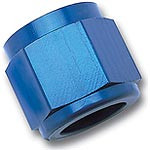These tube nuts from Russell will make the installation of aftermarket steel or aluminum line to your factory hard lines a snap, saving you time and money. They are manufactured from aerospace aluminum and are available in either a protective anodized blue or a new Endura finish  Fitting Attachment 1:Female threads  Fitting Size 1:-8 AN  Fitting Material:Aluminum  Fitting Finish:Blue anodized  Quantity:Sold as a pair.