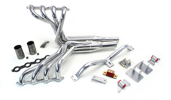 This swap kit is for 1973-1987 GM ½ ton 2 wheel drive trucks and 1973-1991 2wd SUV. It was designed around our GM LH8 oil pan. Unlike most LS swap parts on the market this kit replaces the frame brackets in addition to the mounts so you'll have clean mounting of your engine and not a mix of parts that are weak and don't work together properly. The frame brackets bolts into existing holes in the frame and and locates the engine to give you the most options for front accessories drives. Unlike others, our kit positions the engine so there is no steering interference and maintains the proper drive-line angle for smooth highway cruising. It provides clearance for the factory AC box, power brake booster, and aftermarket suspension components.  We offer a complete line of headers that give unparalleled performance and ground clearance with sizes that are matched to your engine combo. These combined parts offer an easy, strong, and clean installation of your LS engine. See our installation guide for more info on this LS swap.
