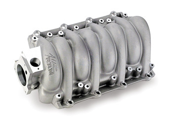 What happens when you add one of these LS6-style intake manifolds to your LSx? You get some serious horsepower gains--up to 12 HP over stock. And Weiand left plenty of room to make more power, too. These lightweight aluminum intakes have a surprisingly beefy design, which gives you plenty of room for porting. Plus, the manifolds can handle the high-intake pressures of nitrous or blower systems. Other features include an idle-to-6,200 rpm powerband, a removable underside panel for access to the runners, and your choice of satin or polished finishes.