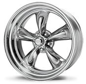 "American Racing Hot Rod Torq Thrust II Chrome The American Racing Authentic Hot Rod Wheel Collection is the icon of American hot rod and muscle car enthusiasts. In the late fifties, American Racing introduced the original magnesium five-spoke American Racing® Torq Thrust®. With its unique, tapered parabolic spoke design, it is considered by many to be the most famous wheel of all time and was only recently named by Hot Rod magazine as one of twenty speed parts that changed the world (Hot Rod, November 2004). Those five-spoked American ""mags,"" admired by so many on the drag strip, quickly made the conversion from strip to street, kicking off the custom wheel craze. Now, 50 years after American Racing was founded, the American car culture and the passion that drives it continues, attracting new generations of hot rodders, vintage enthusiasts, and muscle maniacs. With the same passion that started in that small machine shop in San Francisco fifty years ago, American Racing's commitment to genuine, authentic hot rod wheels continues. With this commitment in mind, American's Torq Thrust II and Hopster wheels were custom-designed to feature period correctness, functional backspacing requirements with custom sizes and modern engineering standards. As the Official Wheel of the Hot Rod Magazine PowerTour, Don Schumacher Racing, California Speedway and many other events, you'll see American Racing wheels at every show or just around town, cruisin'.  Finish your muscle car or truck with these wheels - it harkens to the past while updating the look of your vehicle.  Specs:  20 x 8 BS: 4.5""  20 x 10.0 BS: 5.75"""