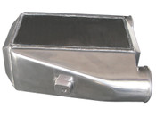 "Aluminum Liquid Water to Air Intercooler.   - Overall Size: 12""x11""x4.5"" - Core Size: 11""x6""x4.5"" - 3"" Air Inlet Outlet - NPT 1/2 Water Inlet Outlet - 4.5"" Thick  This is a Huge Liquid to Air Intercooler, With Built-in cast Bungs for easy Install, Perfect for High Power Applications, Supports 1000+ HP"
