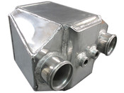 """This is a Huge Liquid to Air Intercooler, Perfect for High Power Applications, Supports 1000+ HP  - Core Size 9""""x6""""x8.5"""" - Overall Size 14""""x12""""x8.5"""" - 3"""" Air Inlet Outlet - NPT 1/2 Water Inlet Outlet - 8.5"""" Thick"""