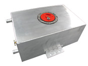 "Polished Aluminum Ice Box For Turbo Or Supercharger Heat Exchange System   -Size: 14""x8""x5"". 2.4 Gallon. -Water Inlet outlet are 3/4"" OD. -Rolled or Beaded ends to maximize sealing.  -Big Copper Drain Plug.  -3"" Opening Stainless Steel Flush Mount Cap for Fast Filling. -Flush Bottom Mounting Brackets for Easy Install"