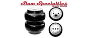 """RE-6, 6"""" SLAM SPECIALTIES 1/2"""" PORT, 200 PSI  Ideal for Compact and Light-weight vehicles.  Features  6"""" Diameter 200 PSI Pressure Rating Single 1/2"""" NPT Port (2) 3/8""""-16 Mounting Holes Top (3) 3/8""""-16 Mounting Holes Bottom 2.9"""" Collapsed Height 10.0"""" Extended Height"""