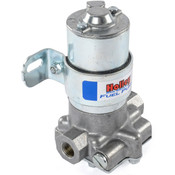 These Blue electric fuel pumps from Holley feature an improved design for street and strip applications, a new lower housing casting for enhanced fuel flow, and a tumble-polished billet look with the distinctive blue logo. These pumps have a 110 gph flow rate, draw only 3 amps, and have a maximum pressure of 14 psi with an externally accessible pressure relief valve.   Use in conjunction with the Edelbrock e-EFI Sump Tank for up to 600 HP on an LS Engine.