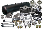 "99-06 SILVERADO/SIERRA TRUCKS FRONT, BACK, SIDE TO SIDE SETUP ELECTRIC VALVES  (4) EASYSTREET D2600 DOMINATOR BAG (1) 99-06 GM FRONT BRACKETS (1) UNIVERSAL REAR OVER AXLE BRACKETS (1) 8-PIECE NOTCH (1) PARALLEL 4-LINK WITH PAN-HARD BAR (1) VIAIR 380C COMPRESSOR (1) 5-GALLON 9-PORT TANK (BLACK OR SILVER) (1) 50' OF 3/8"" NYLON D.O.T. AIR LINE (8) AVS 250 PSI, 3/8"" NPT VALVE WITH 15mm ORIFICE (4) 3/8"" STREET TEE (4) 3/8"" HEX NIPPLE (4) 3/8"" LINE x 3/8"" PIPE MALE COMPRESSION STRAIGHT (4) 3/8"" LINE x 3/8"" PIPE MALE COMPRESSION ELBOW (4) 3/8"" LINE x 1/2"" PIPE MALE COMPRESSION ELBOW (4) 3/8"" LINE x 1/2"" PIPE MALE COMPRESSION STRAIGHT (1) 1/4"" HEX PLUG (2) 1/2"" HEX PLUG (1) 1/4"" PIPE DRAIN COCK"