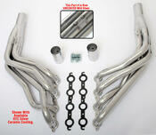 """These Headers are designed specifically for installing an LS engine into 1967-98 Chevy/GMC 1/2 Ton Trucks and SUVs (C10, C15, C1500, R10, R1500 trucks, Suburbans, Yukons and Tahoes), and are available in a variety of tube lengths and diameters. These headers will work with our LS Swap kits.  These headers are 1 3/4"""" long tube and black ceramic coated."""