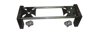 """Complete 8-piece notch with crossmember mounting holes. (2) 44"""" x 1.5"""" round crossmembers. 1/4"""" iron cross upper bag plates can be welded on top or under the bars. Lower axle brackets also included."""