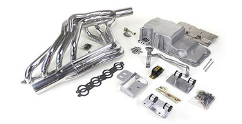 Hello LSx Guys! Get your Vette on the road daily - get your project on the road with this swap kit!  This swap kit is for the 1968-1982 Corvette. It was designed around our 4th gen f-body and CTS-V oil pans. It bolts into existing holes in the frame and was designed to give you the most options for front accessory drives. Unlike others, our kit positions the engine so there is no steering interference and maintains the proper drive-line angle for smooth highway cruising. It provides clearance for the factory AC box, power brake booster, and aftermarket suspension components.  We offer a complete line of Muscle Rods headers that give unparalleled performance and ground clearance with sizes that are matched to your engine combo. These combined parts offer an easy, strong, and clean installation of your LS engine.  Can work with the following transmissions:  LS and T-56 or TR-6060 LS and 4L60E to 4L70E Please advise in the notes on which combo you will be installing in your project.