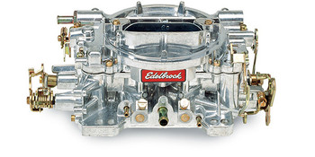 """(CALIBRATED FOR PERFORMANCE)  Designed and calibrated for small cubic-inch engines such as 305 c.i.d and smaller Chevrolet; 302 c.i.d. and smaller Ford and dual-quad applications such as Edelbrock C-26, F-28 and Street Tunnel Ram. Match with an Edelbrock Performer or Performer EPS manifold or other brands of similar design. Includes both timed and full vacuum ports for ignition advance. Comes with: Metering Jets - Primary .086, Secondary .095; Metering Rods - .065 x .052; Step-Up Spring - orange (5"""" Hg). Use Carb Studs #8008 or #8024 if needed."""