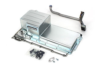 Non GTO High Clearance Pan. No remote filter required. The kit includes pickup tube, gasket, hardware, and pickup tube girdle