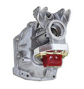 "To keep up with new transmission options we offer two transmission adapter brackets for the late model T-56 and TR-6060 transmissions, including the MG9 ""high-torque"" version of the TR-6060 behind the LSA engines in the CTS-V and ZL1 Camaro. They are designed to adapt a standard transmission mount to the transmission using the factory bolt holes and places the transmission mount in the correct location for our LS swap kits.  The adapter bracket for the Cadillac CTS-V T-56 and standard TR-6060 is laser cut, CNC bent and jig welded using 3/16"" steel and powder-coated black. The adapter bracket for the MG9 high-torque TR-6060 is CNC machined from 6061-T6 billet aluminum and has a milled finish. Both come with all necessary hardware.  Both adapter brackets are shown with our polyurethane transmission mount which is not included with the transmission adapter brackets, but is included with our LSx swap kits."