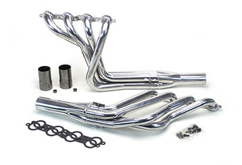 "We offer several sizes of headers so you can match them to your engine combination. Our 1 3/4"" mid-length headers offer great ground clearance and support up to 500hp. Our 1 ¾"" long-tubes will support up to 600hp. For more than 600hp we offer 1 7/8"" long-tubes and for big cubic inch monster engines our 2"" is a perfect match. Our stepped headers offer great high rpm performance while retaining good low and mid-range power. They all include gaskets, bolts, reducers, and O2 sensor bungs"