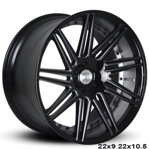 """Now you can """"sexify"""" your vehicle with these BEAUTIFUL concave wheels from RoadForce! Priced per wheel. Order them staggered if you want to have that DEEEP concave look in the rear.  Available Sizes: 22x9, 22x10.5 - 5x112 - 5x114.3 -5x120 - Gloss Black Face  They are TPMS Compatible! Order yours today!"""