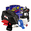 This is the kit used when a professional finish is desired to dip either a larger car, or when extra coverage is needed due to contrasting or Florescent colors. We have found that most consumers will have a better end result when using this kit due to the extra product included