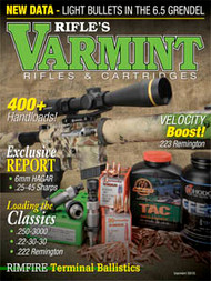 2015 Varmint Rifles & Cartridges