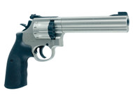 Smith & Wesson Gun Revolver Airgun - Nickel - 6 Inch Barrel