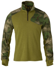 Hell's Canyon Speed MHS 1/4 Zip Top in Foliage/Green
