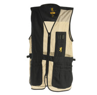 Trapper Creek Mesh Shooting Vest, Black/Tan
